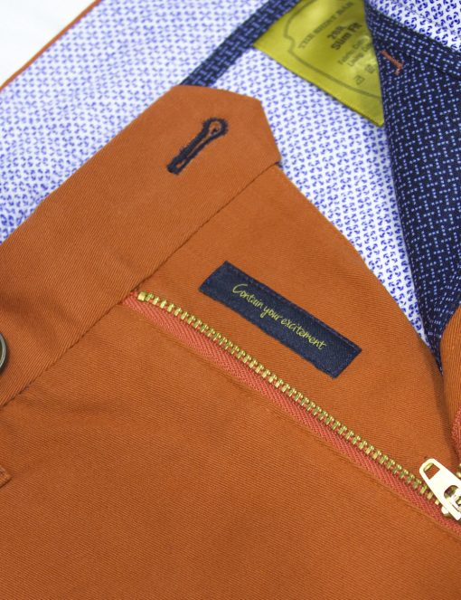 Orange Stretch Cotton Shorts - CSA4.3