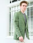 Slim Fit Green Checks Single Breasted Blazer - S2B9.4
