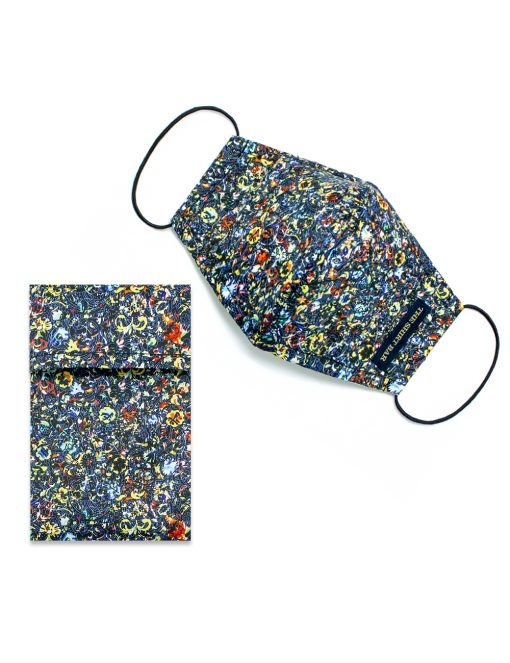 Multi Colour SG Inspired Floral Print Reusable Mask with Pouch - FM38.1
