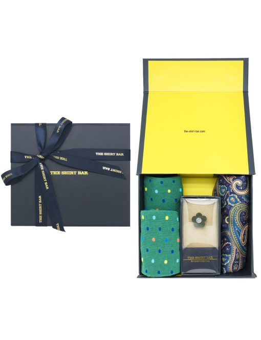 Green Socks/ Lapel Pin/ Pocket Square Gift Set AGS08SLP.1