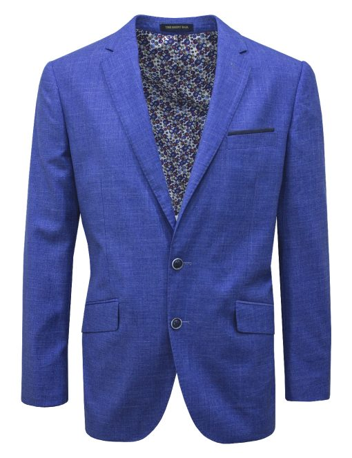 Modern / Classic Fit Colony Blue Suit Jacket - SJ8.3-SS8.3
