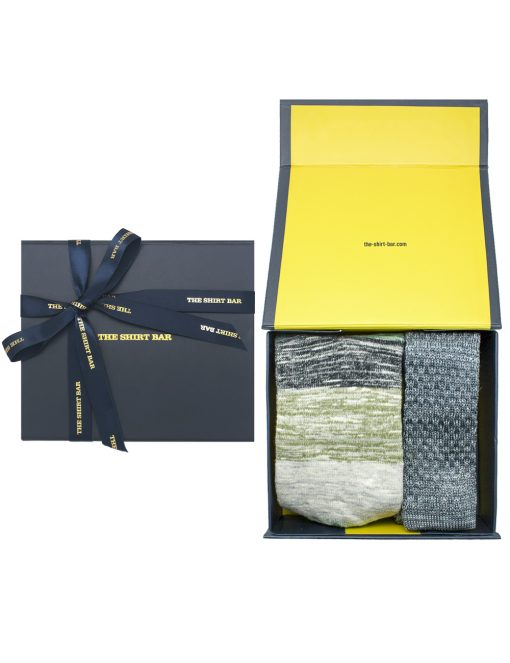 Grey Knitted Necktie and Socks Gift Set - AGS1NTS4.1