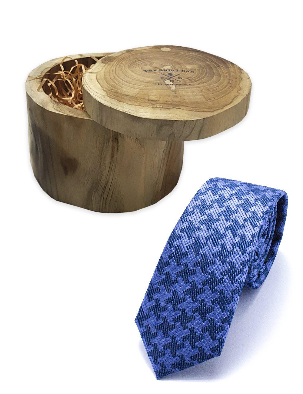Navy Pattern Woven Necktie - NT35.4