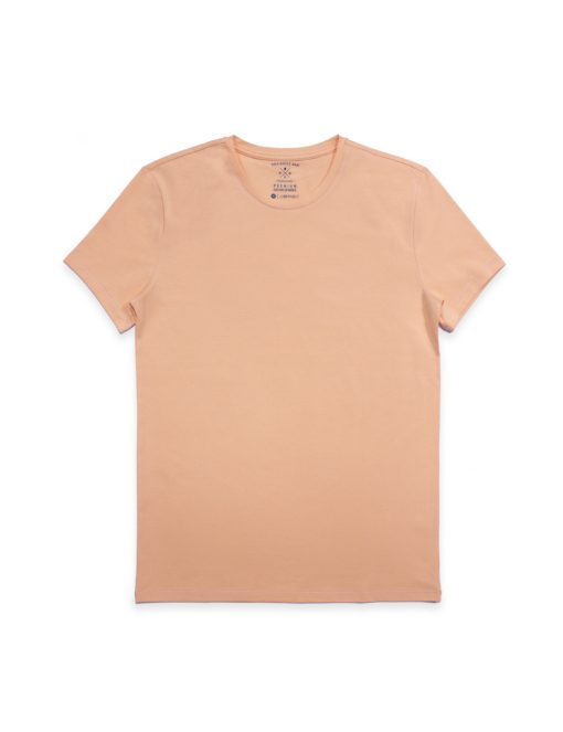Slim Fit Salmon Premium Cotton Stretch Crew Neck T-Shirt - TS1A5.2