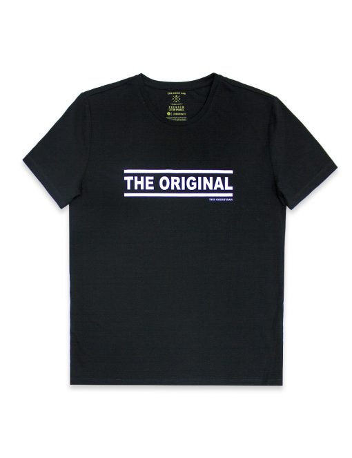 """Daddy & Me"" Series - ""The Original"" Premium Cotton Stretch Adults Black Crew Neck T-Shirt – TS4J2.2"