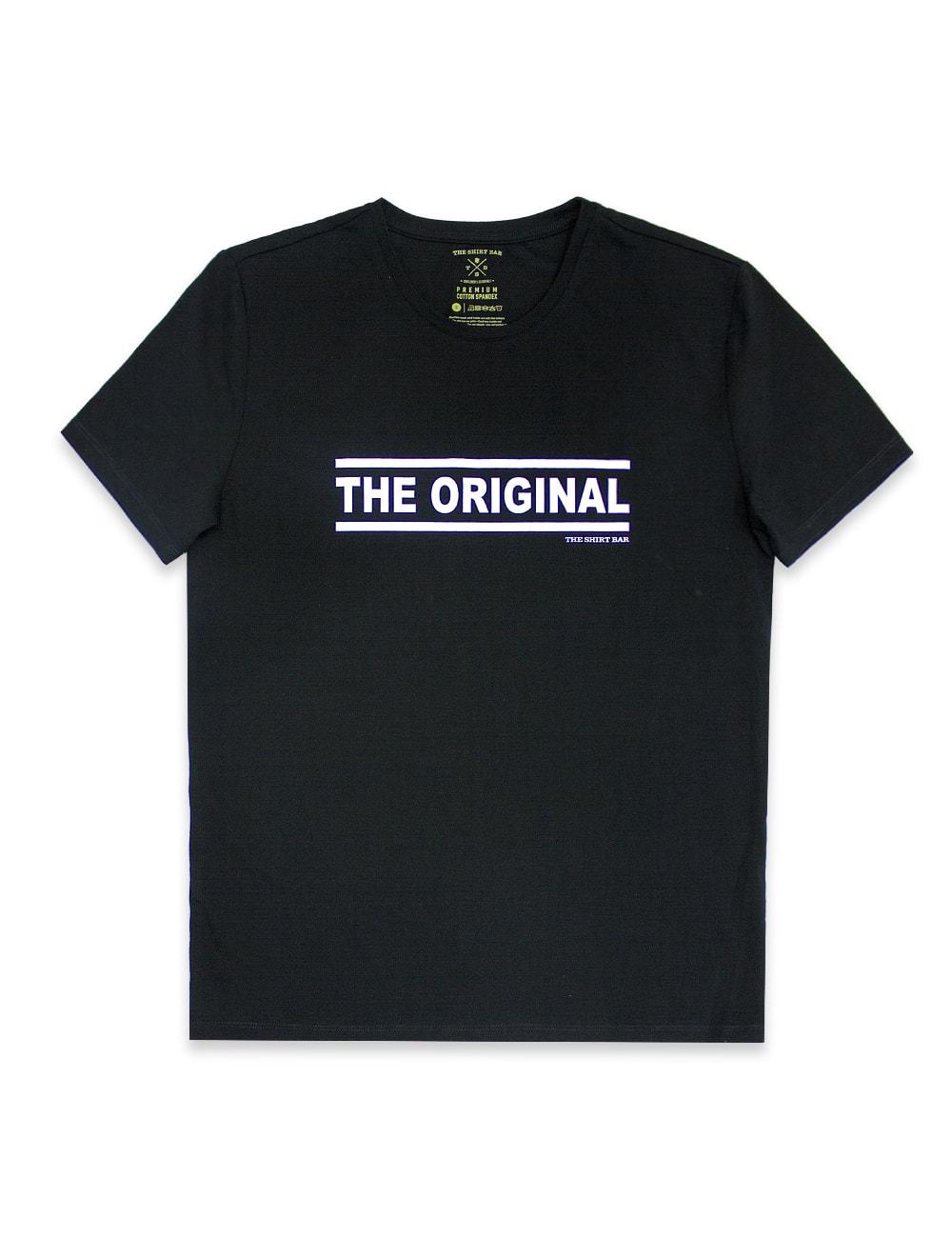 """Daddy & Me"" Series - ""The Original"" Premium Cotton Stretch Adults Black Crew Neck T-Shirt – TS4J2.2"