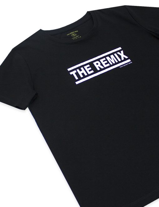 """Daddy & Me"" Series - ""The Remix"" Premium Cotton Stretch Kids Black Crew Neck T-Shirt – TS4K5.2"