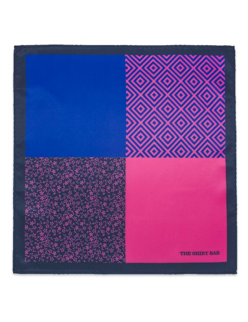 4-in-1 Pink Print Woven Pocket Square PSQ22.14