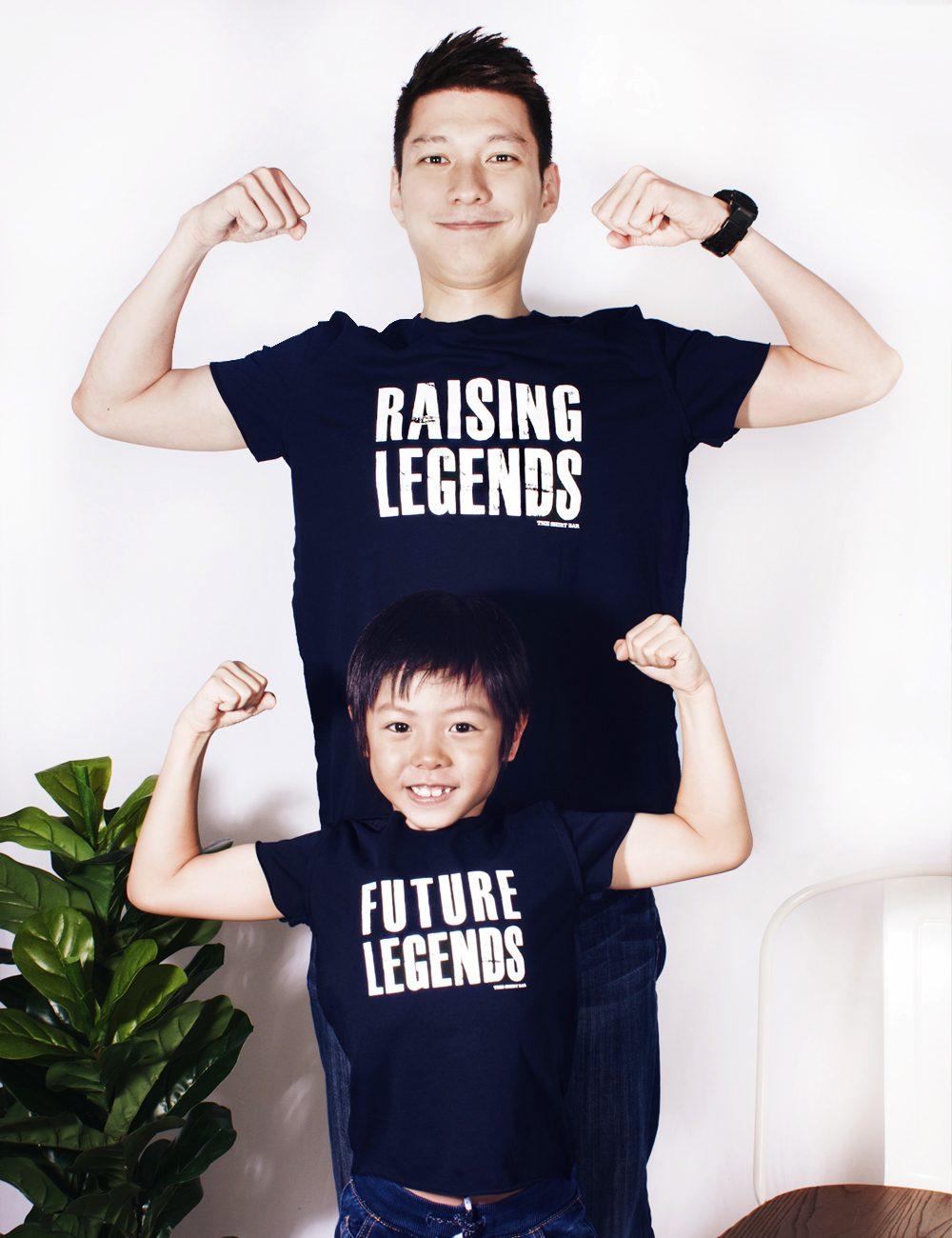 Daddy & Me Raising Future Legends Navy T-shirts