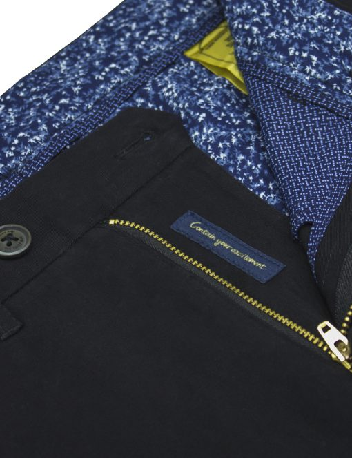 Slim Fit Black Casual Pants - CPSFA6.2