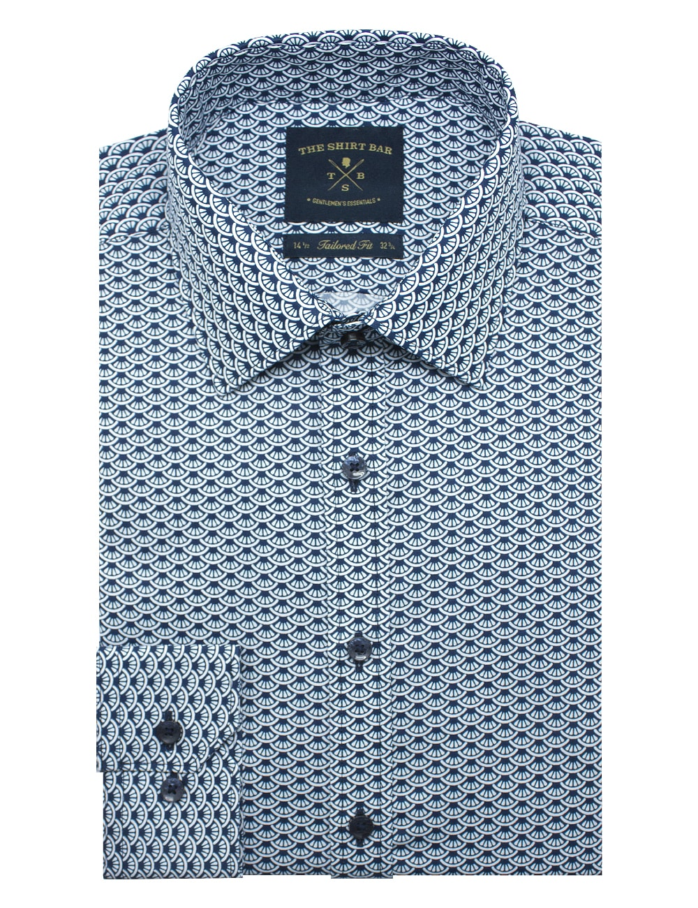 Blue Merlion SG Inspired Slim / Tailored Fit Long Sleeve Shirt - TF2A3.18