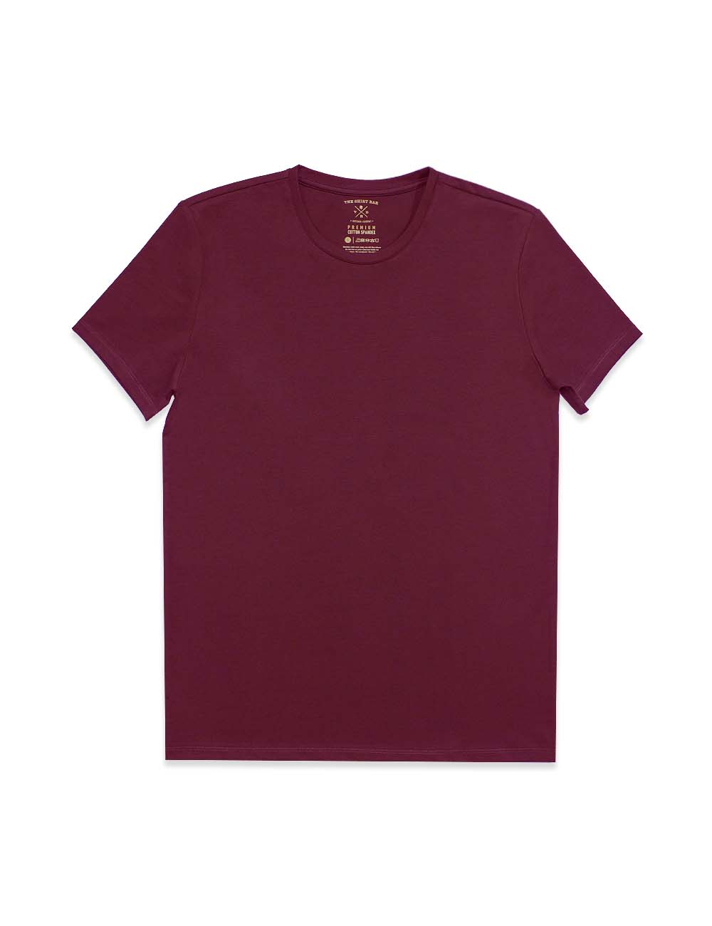 Slim Fit Maroon Premium Cotton Stretch Crew Neck T-Shirt TS1A4.3