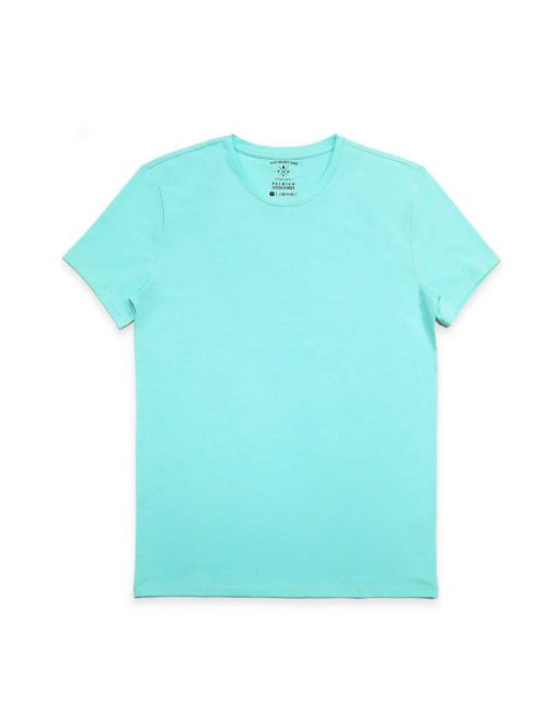 Slim Fit Turquoise Premium Cotton Stretch Crew Neck T-Shirt TS1A5.3