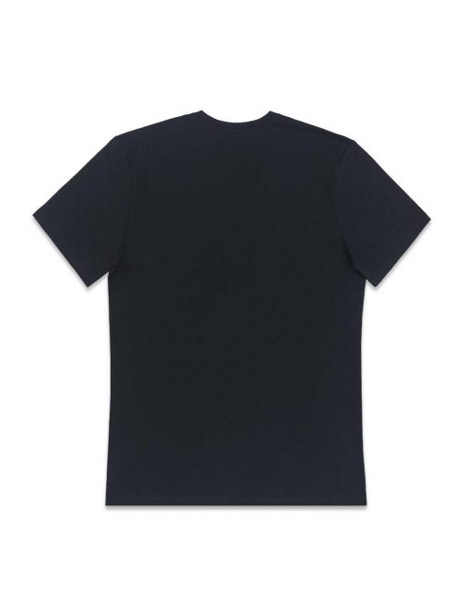 Slim Fit Black Premium Cotton Stretch V Neck T-Shirt TS3A2.3
