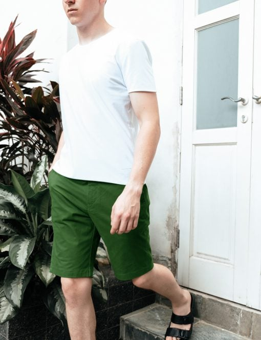 Forest Green Casual Slim Fit Shorts - CSA3.4