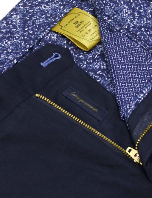 Slim Fit Navy Shorts CSA6.4