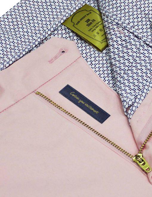 Slim Fit Pastel Pink Shorts CSA4.4