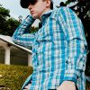 White Green Navy Checks Easy Care Slim Tailored Fit Long Sleeve Shirt - TF2A7.17