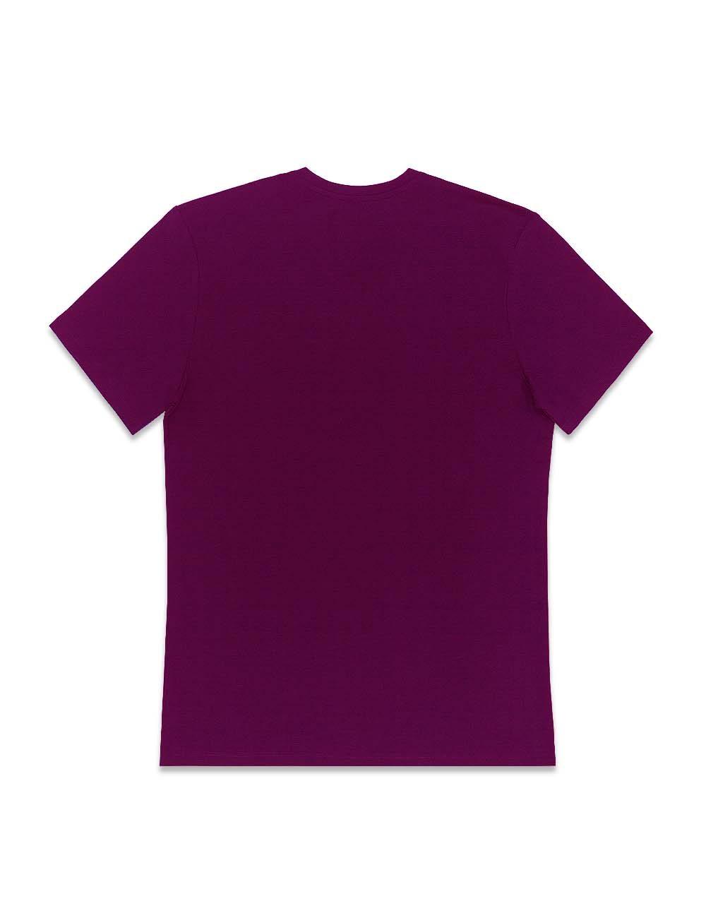 Burgundy Premium Cotton Stretch V Neck Slim Fit T-Shirt – TS3A4.3