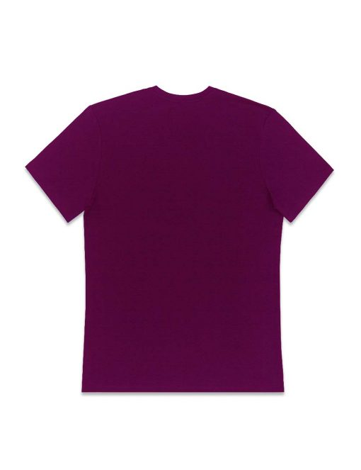 Burgundy Premium Cotton Stretch V Neck Slim Fit T-Shirt – TS3A4.3