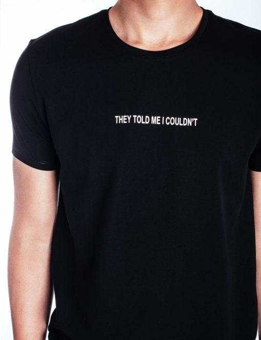"""I Did It"" Black Crew Neck Slim Fit T-Shirt - TS4A3.3"