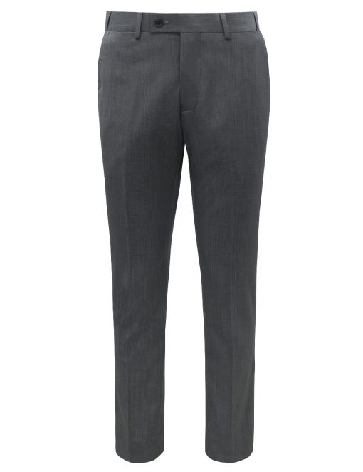 Slim / Tailored Fit Grey Jetsetter Flexi Waist Smart Pocket Dress Pants - DPT1E8.5