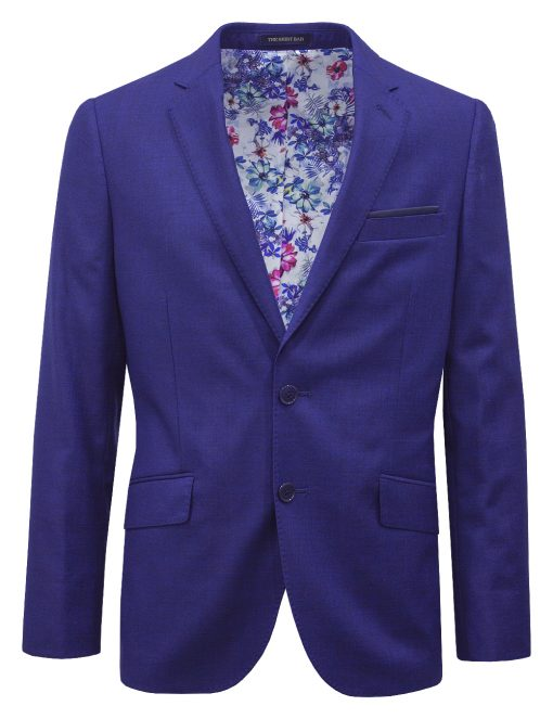 Slim / Tailored Fit Navy Mixed Suit Jacket SJ5.3-SS5.3