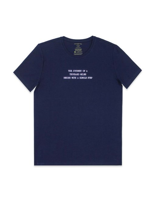 """The Journey"" Navy Crew Neck Slim Fit T-Shirt - TS4A1.2"