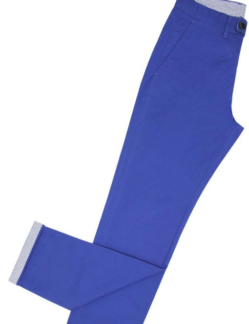 Slim Fit Seattle Blue Casual Pants – CPSFA2.3