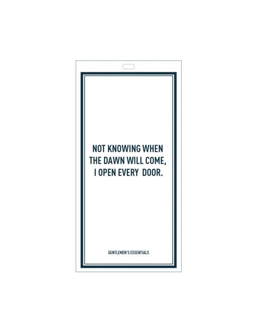 Quote 13.1 - Not knowing when...open every door.