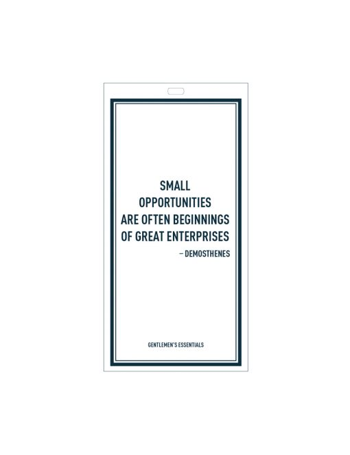 Quote 15.1 - Small opportunities are...of great enterprises.