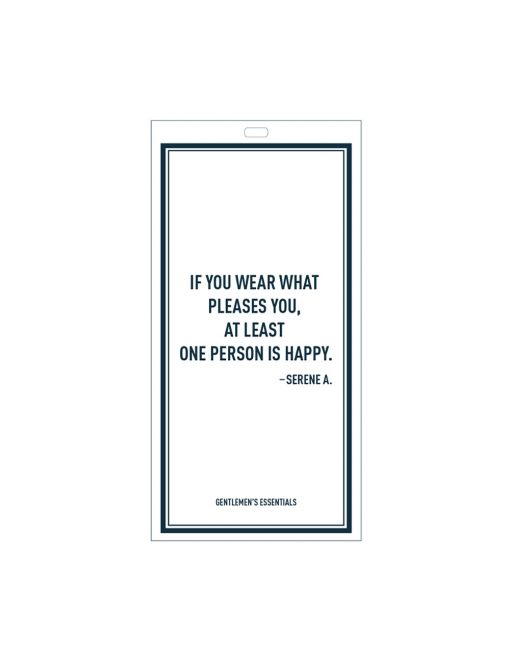 Quote 7.1 - If you wear...person is happy.