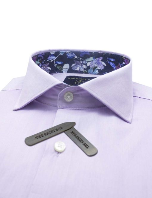 Solid Purple Double Cuff Modern / Classic Fit Long Sleeve Shirt – CF3D7.20