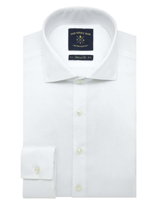 Solid White Easy Iron Double Cuff Slim / Tailored Fit Long Sleeve Shirt – TF3D2.20