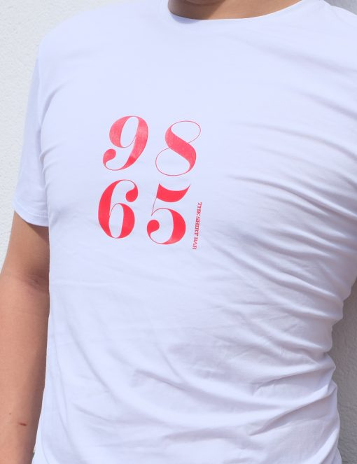 'Our Independence' White Cotton Stretch Crew Neck Custom Fit T-Shirt - TS4A3.4