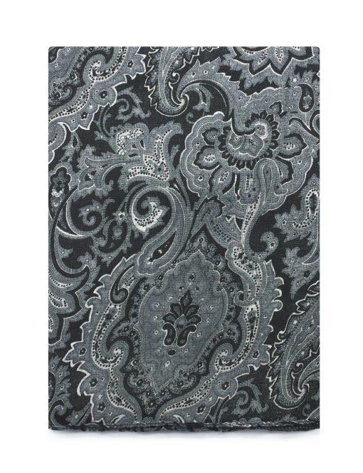 'Protégé' Grey Paisley Printed Scarf - WS12.1