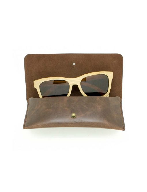 'Cory' Khaki with Brown Lens Bamboo Sunglasses – EW6.NOB1