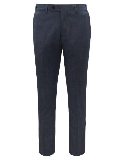Slim / Tailored Fit Navy Jetsetter Flexi Waist Smart Pocket Dress Pants - DPT1E12.5