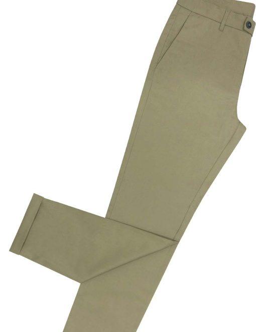 Slim Fit Beige Tencel Casual Pants - CPSFA5T.3