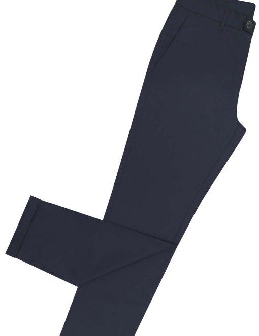 Slim Fit Navy Tencel Casual Pants - CPSFA6T.3