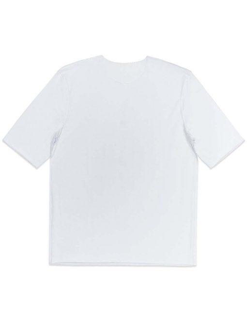 White Raw Edge Half Sleeve Reversible Premium Cotton Stretch Comfort Fit T-Shirt TS2C2.3