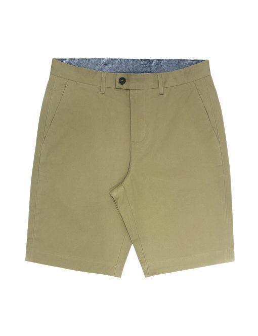 Khaki Cotton Stretch Slim Fit Casual Shorts - CSA3.5