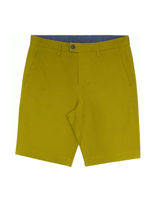 Mustard Cotton Stretch Slim Fit Casual Shorts - CSA4.5
