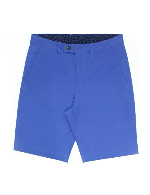 Seattle Blue Cotton Stretch Slim Fit Casual Shorts - CSA7.5